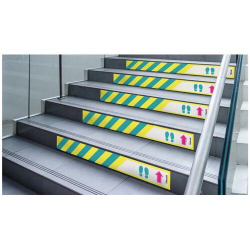 Betzold Boden- und Treppenstufenaufkleber, Laufrichtung, 5 Stück