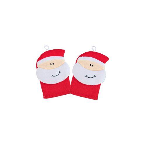 Betzold Waschhandschuh Weihnachtsmann, 2er-Set