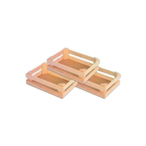 small foot Obstkisten aus Holz, 3er-Set