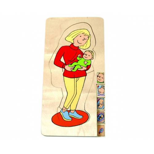 beleduc Schichtenpuzzle Mutter