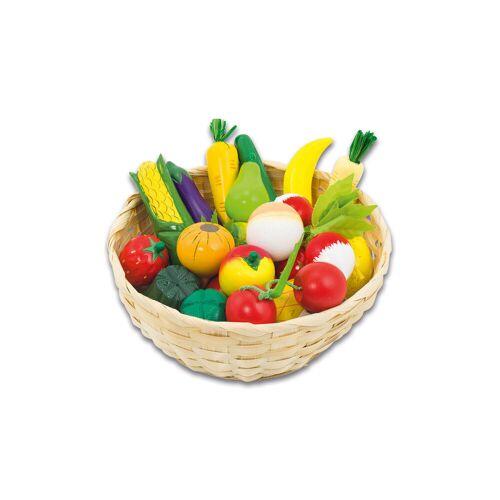 goki Obst und Gemüse im Korb, 21-tlg.