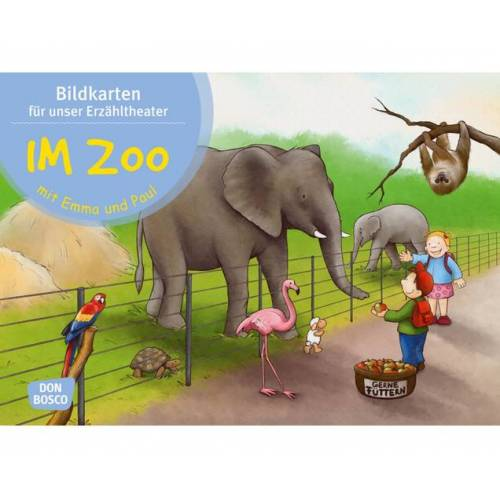 Don Bosco Im Zoo mit Emma und Paul. Kamishibai-Bildkartenset