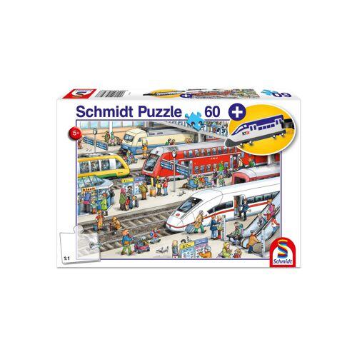 """Schmidt Spiele Puzzle """"Am Bahnhof"""", 60 Teile"""