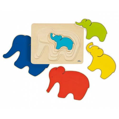 goki Schichtpuzzle Elefant