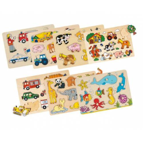 goki Steckpuzzle-Set, 7-tlg.