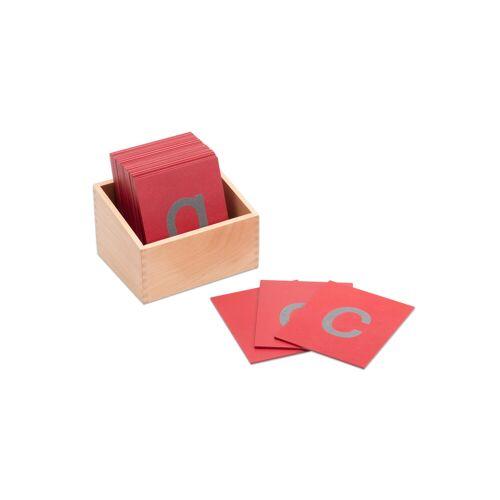Betzold Fühl- und Tastplatten, Kleinbuchstaben in Holzbox