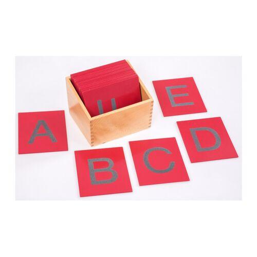 Betzold Fühl- und Tastplatten, Großbuchstaben in Holzbox