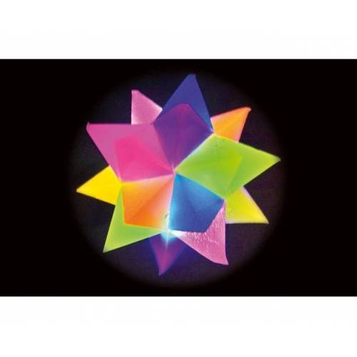 Kuenen Flummi Leucht-Kristall-Stern, 2 Stück