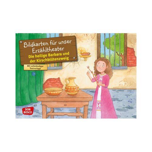 Don Bosco Bildkarten: Die heilige Barbara und der Kirschblütenzweig