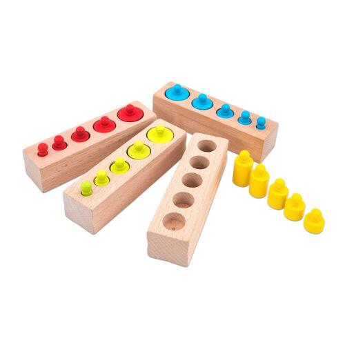 small foot Montessori-Steckspiel Zylinder