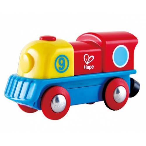 Hape E-Lokomotive Holzeisenbahn