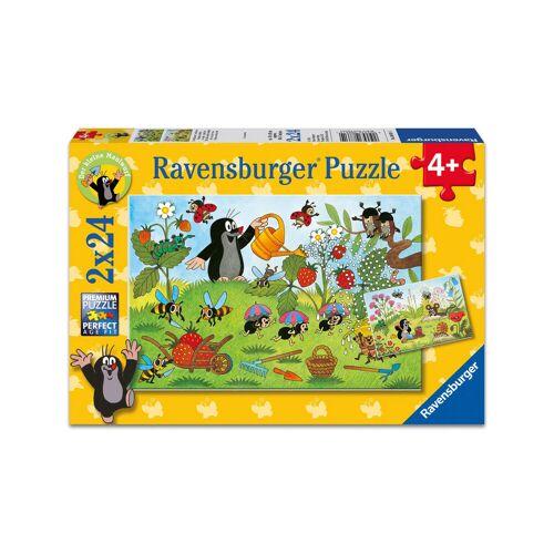 "Ravensburger Puzzle ""Der Maulwurf im Garten"", 2er-Set, 2 x 24 Teile"