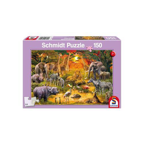"Schmidt Spiele Puzzle ""Tiere in Afrika"", 150 Teile"