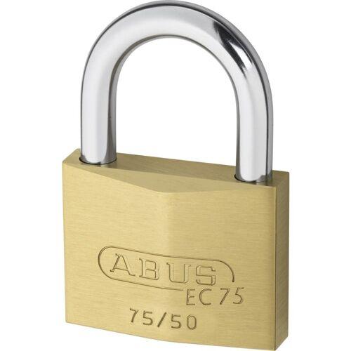 ABUS 75/50 Vorhangschloss Messing mit Wendeschlüssel gleichschließend