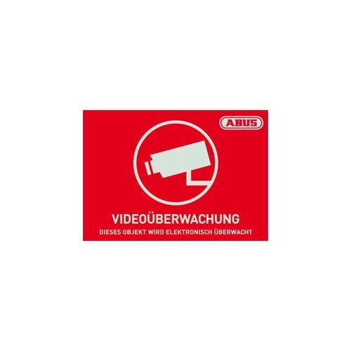 ABUS AU1421 Warn-Aufkleber Video 74x52,5 mm Tür Fenster Videoüberwachung