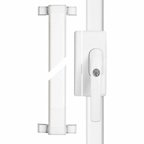 ABUS FOS 650 weiß Fenster Stangenschloss Basisset VdS FOS650 W gleichschließend