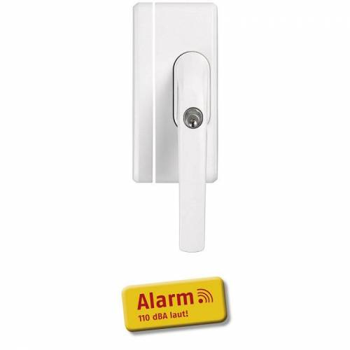 ABUS FO400A W weiß Alarm Fensterschloss mit 110 dB Sirene FO 400A Einbruchschutz