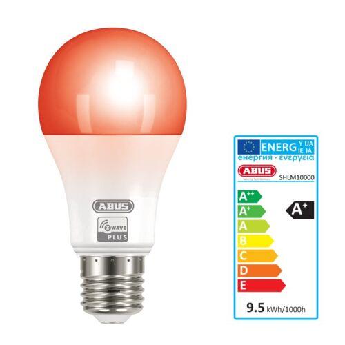 ABUS Z-Wave LED RGBW Lampe dimmbar Repeater Glühlampe E27 SHLM10000