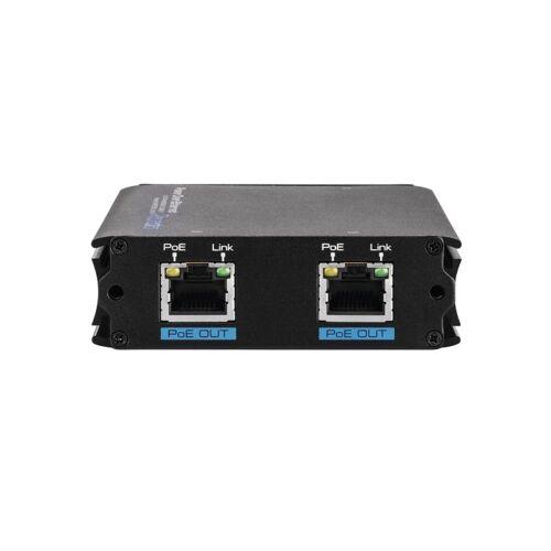 ABUS 2 Port PoE Repeater PoE+ Ethernet bis 300 m Verstärker IP Kameras ITAC10200