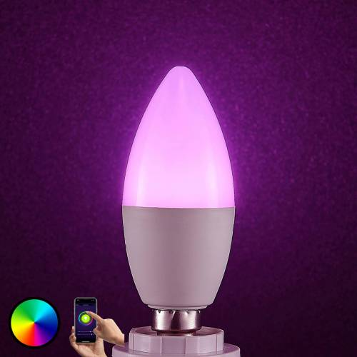 Lampenwelt.com Lindby Smart LED-Lampe WiFi E14 4,5 W, RGB Kerze