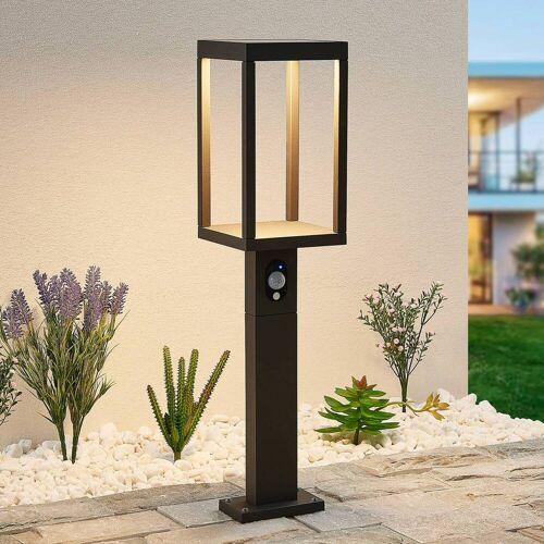 Lucande Qimka LED-Solar-Sockelleuchte mit Sensor