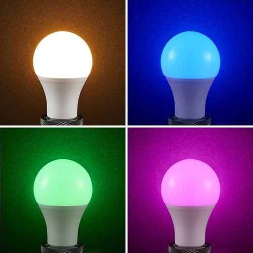 Lampenwelt.com Lindby Smart LED-Lampe Wifi E27 10 W, 2.700 K, RGB