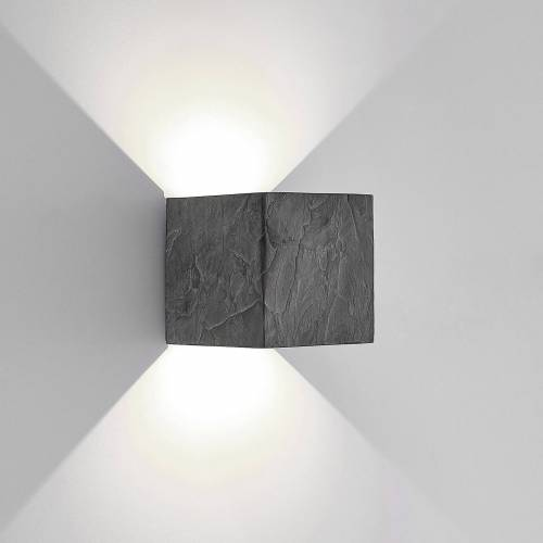 Lucande LED-Außenwandleuchte Naja, Schieferoptik