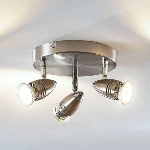 Lampenwelt.com LED-Deckenstrahler Benina, 3-flammig, rund