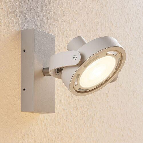 Lampenwelt.com LED-Strahler Munin, dimmbar, weiß, 1-flammig