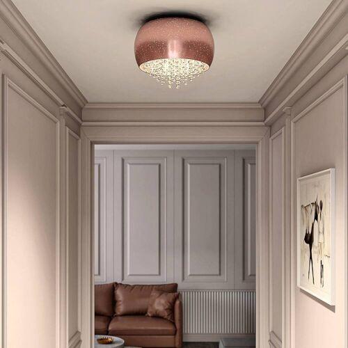 Lucande Elinara Kristall-Deckenlampe, 40 cm kupfer