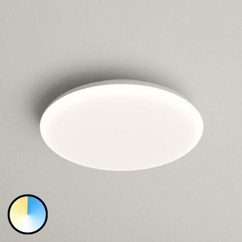 Lampenwelt.com LED-Deckenlampe Azra, weiß, rund, IP54, Ø 25 cm