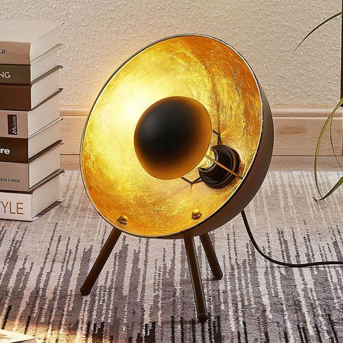 Lindby Tischlampe Muriel Dreibein 38cm schwarz/gold