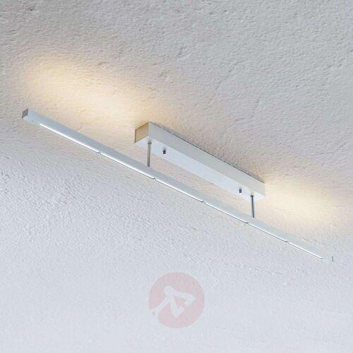 Lampenwelt.com LED-Deckenleuchte Rico, dimmbar, alu matt, 118 cm