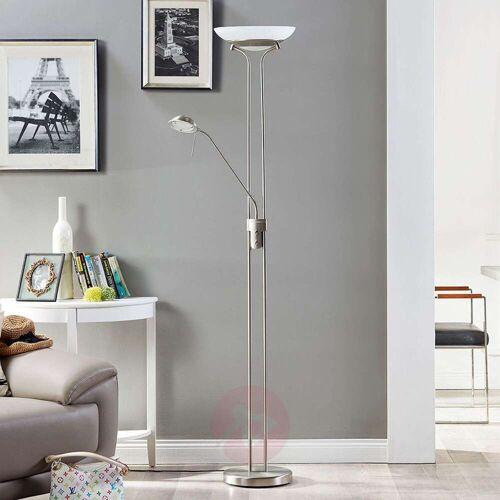 Lindby LED-Deckenfluter Yveta mit Leselampe