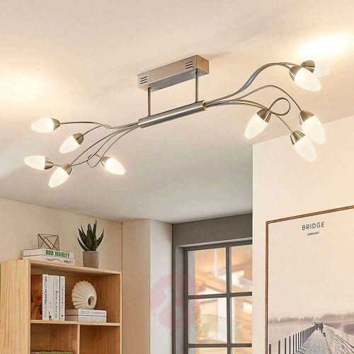 Lampenwelt.com LED-Deckenleuchte Deyan, dimmbar, 10-fl.