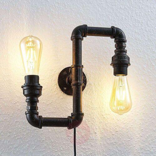 Lindby Wandleuchte Josip im Industrial-Design, Up & Down