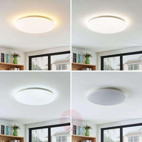 Lindby LED-Deckenleuchte Indika, Farbwechsel CCT, rund