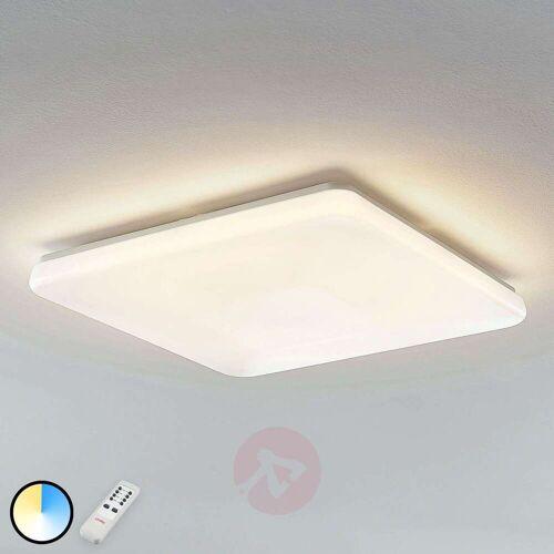 Lindby LED-Deckenleuchte Indika, Farbwechsel CCT, eckig