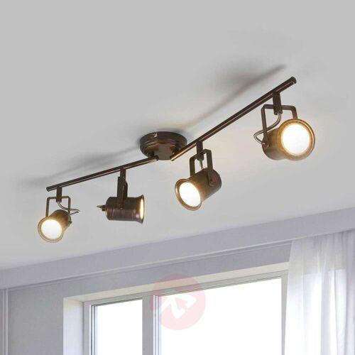 Lindby 4-flammige LED-Deckenleuchte, rustikaler Stil