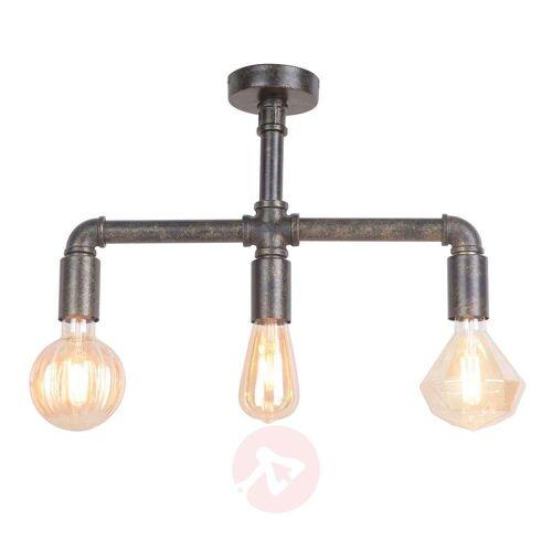 Lampenwelt.com Leonas LED-Deckenleuchte, Industriestil, 3-flammig