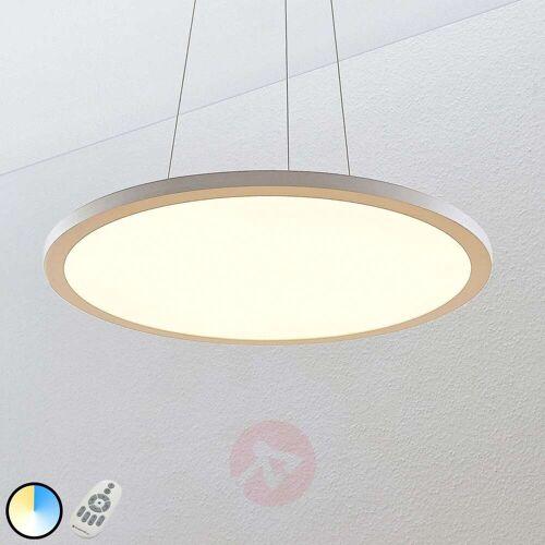 Lampenwelt.com LED-Hängeleuchte Tess, 2.700-6.200K, 60 cm, weiß