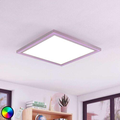Lampenwelt.com LED-Deckenleuchte Lynn, CCT+RGB, eckig, 60x60 cm