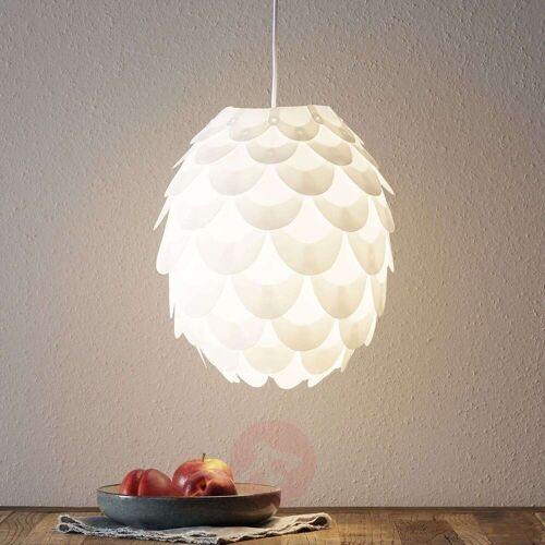 Lampenwelt.com Hängeleuchte Marees in Weiß, Ø 30 cm