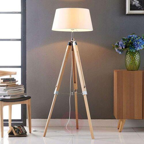 Lindby Stehlampe Katie mit dreibeinigem Holzgestell