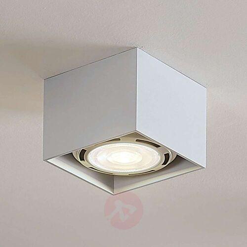 Lampenwelt.com LED-Deckenstrahler Mabel, eckig, weiß
