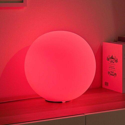 Lampenwelt.com Lindby Smart LED-RGB-Tischlampe Rhona, Kugel