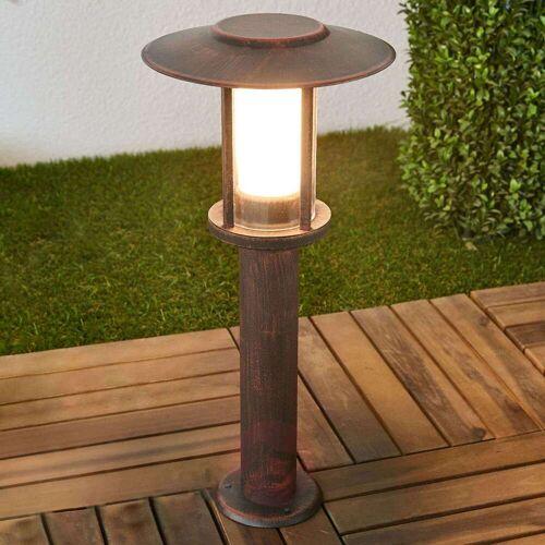Lindby LED-Sockellampe Pavlos in Rost