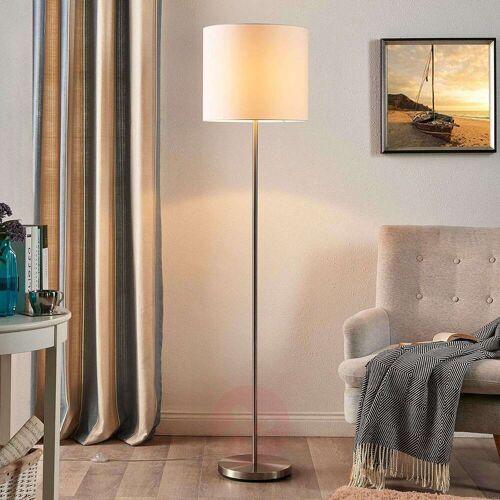 Lindby Parsa - Stehlampe mit Textilschirm in Weiß