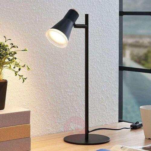 Lindby Michiko LED-Tischlampe m. Schalter, schwarz