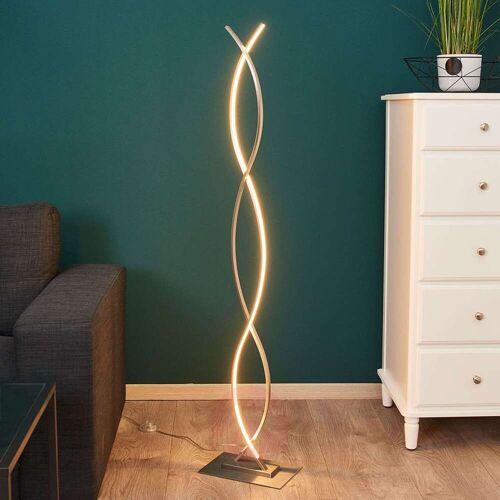 Lindby Geschwungene LED-Stehlampe Bobi